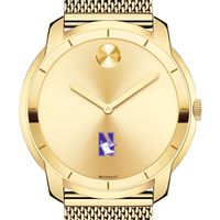Northwestern University Men's Movado Gold Bold 44