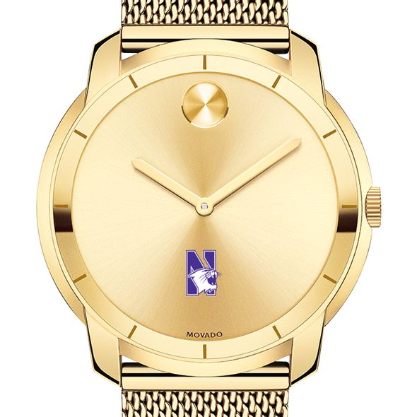 Northwestern University Men's Movado Gold Bold 44