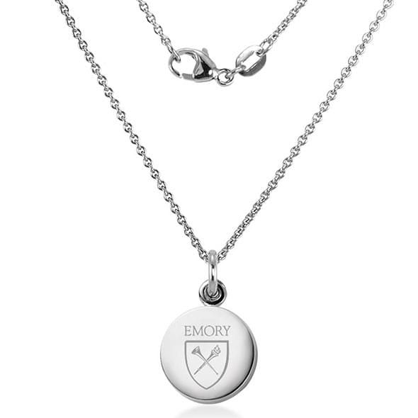 Emory University Necklace with Charm in Sterling Silver - Image 2