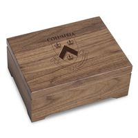 Columbia University Solid Walnut Desk Box