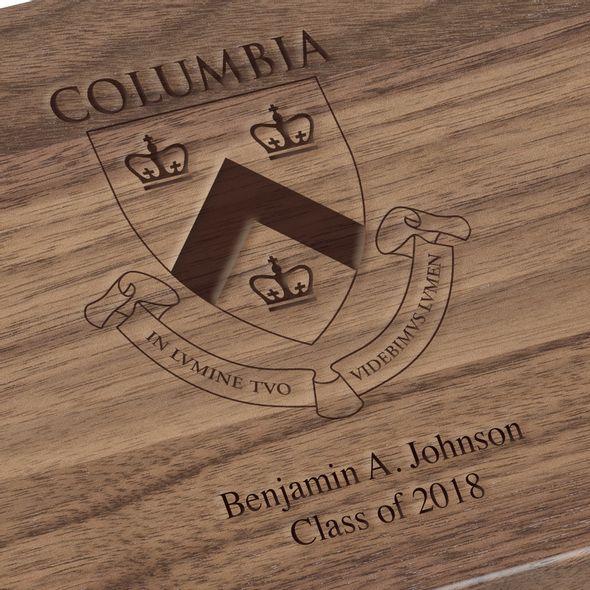 Columbia University Solid Walnut Desk Box - Image 3