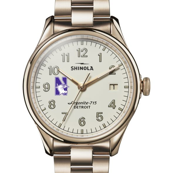 Northwestern Shinola Watch, The Vinton 38mm Ivory Dial