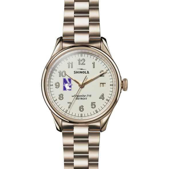 Northwestern Shinola Watch, The Vinton 38mm Ivory Dial - Image 2