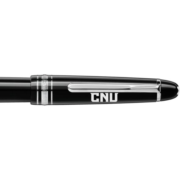 Christopher Newport University Montblanc Meisterstück Classique Fountain Pen in Platinum - Image 2