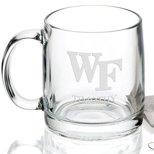 Wake Forest University 13 oz Glass Coffee Mug - Image 2