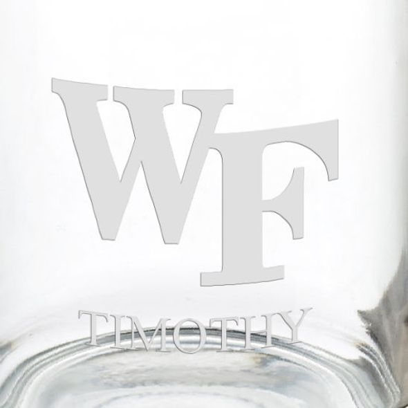 Wake Forest University 13 oz Glass Coffee Mug - Image 3