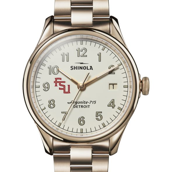 FSU Shinola Watch, The Vinton 38mm Ivory Dial