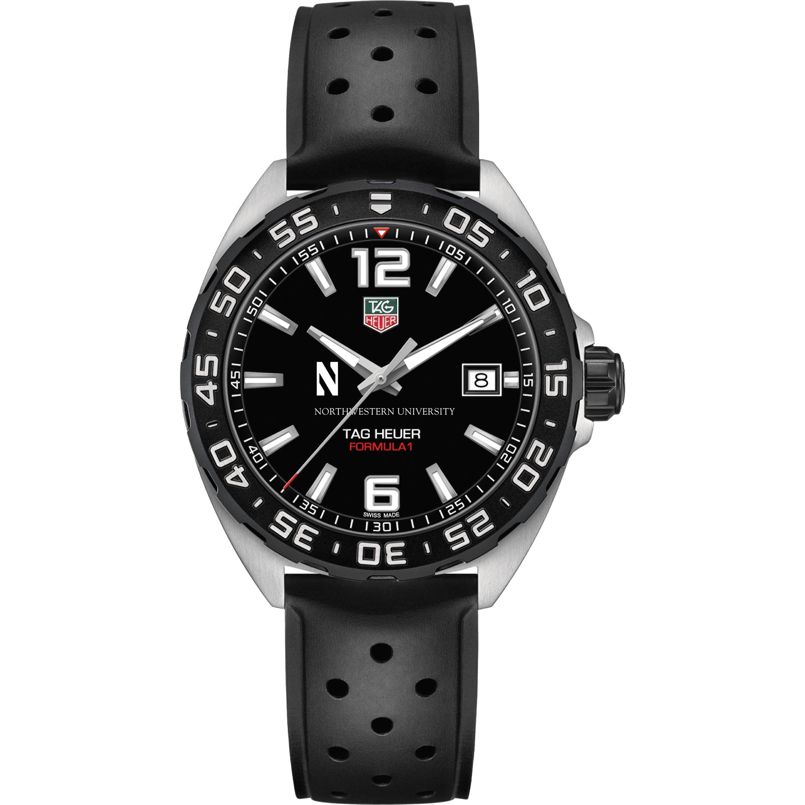 Northwestern Men's TAG Heuer Formula 1 with Black Dial - Image 2