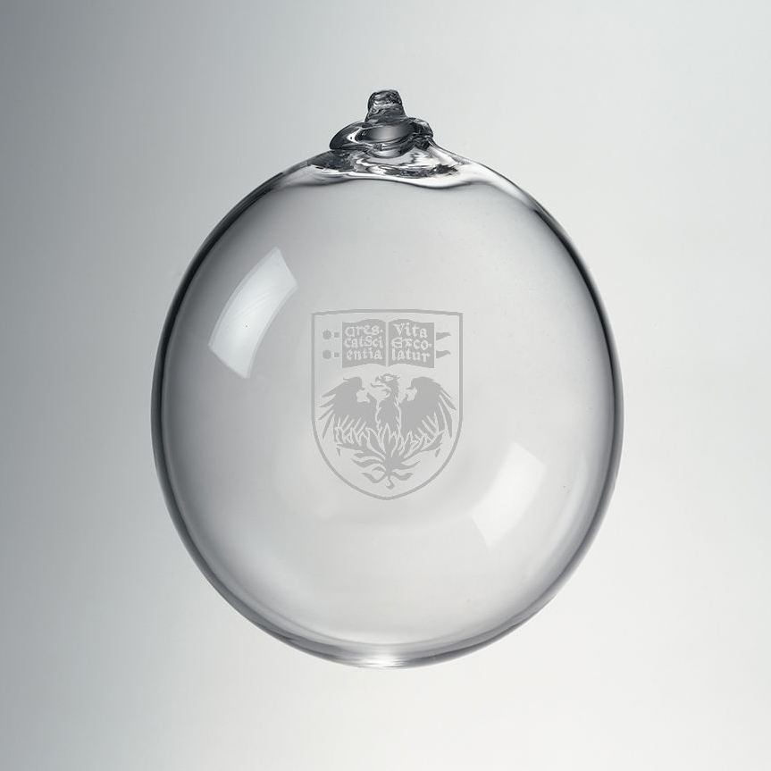 UChicago Glass Ornament by Simon Pearce