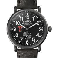 Texas Tech Shinola Watch, The Runwell 41mm Black Dial