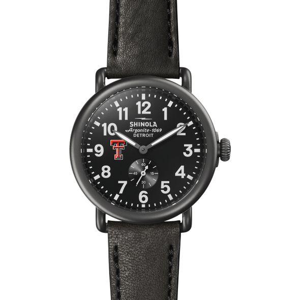 Texas Tech Shinola Watch, The Runwell 41mm Black Dial - Image 2