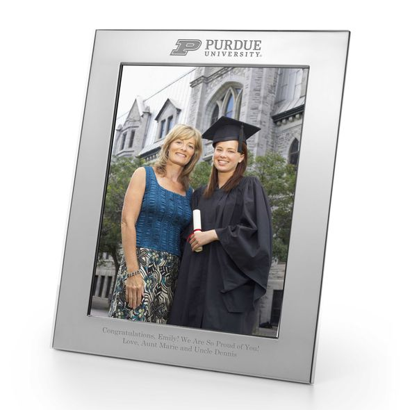 Purdue University Polished Pewter 8x10 Picture Frame