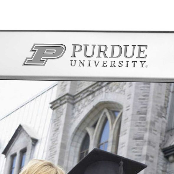 Purdue University Polished Pewter 8x10 Picture Frame - Image 2