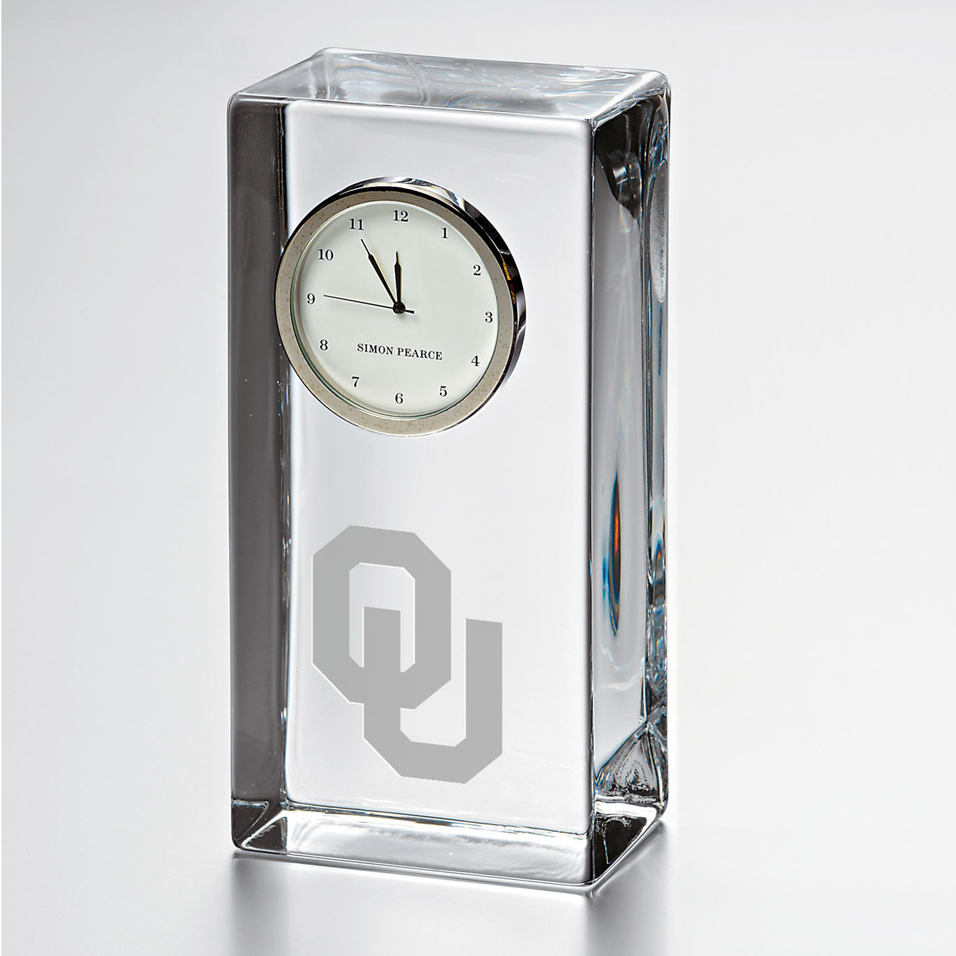 Oklahoma Tall Desk Clock by Simon Pearce