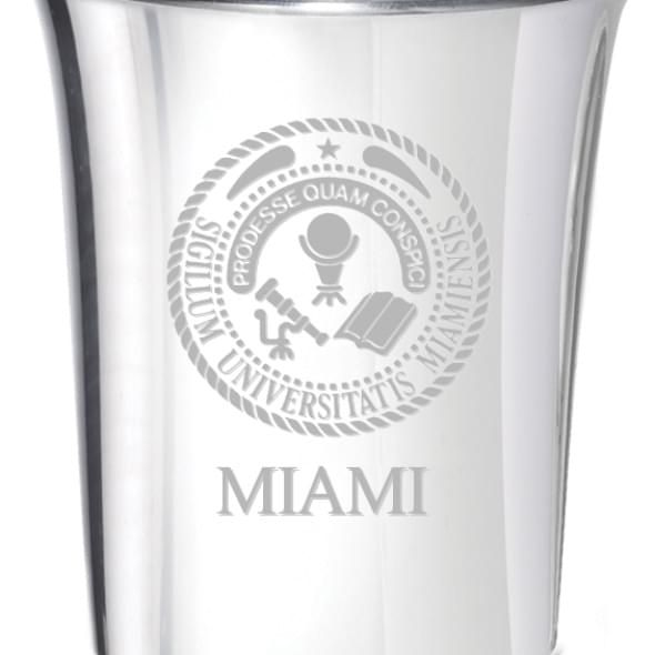 Miami University Pewter Jigger - Image 2