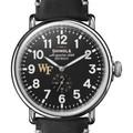 Wake Forest Shinola Watch, The Runwell 47mm Black Dial - Image 1