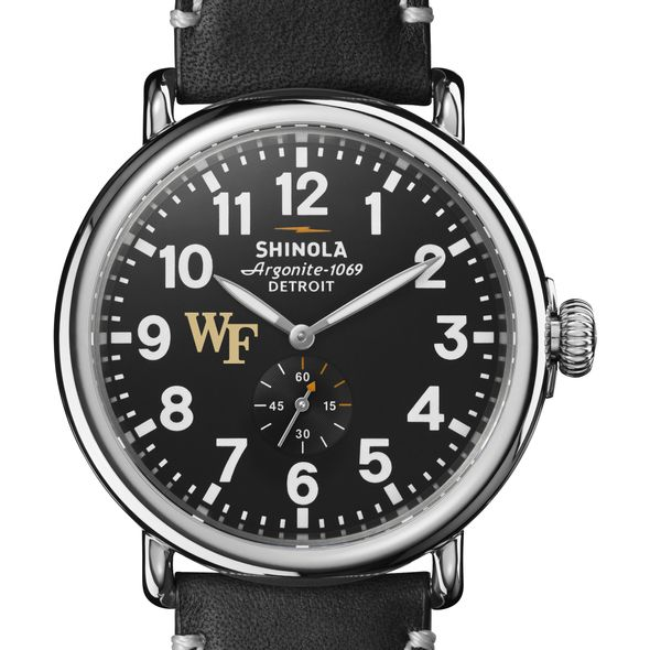 Wake Forest Shinola Watch, The Runwell 47mm Black Dial