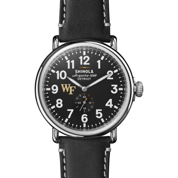 Wake Forest Shinola Watch, The Runwell 47mm Black Dial - Image 2