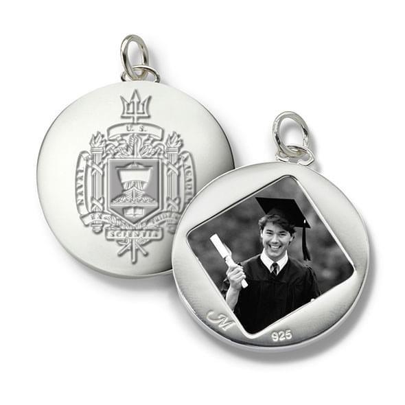 Naval Academy Monica Rich Kosann Round Charm in Silver