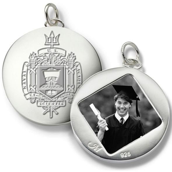 Naval Academy Monica Rich Kosann Round Charm in Silver - Image 2
