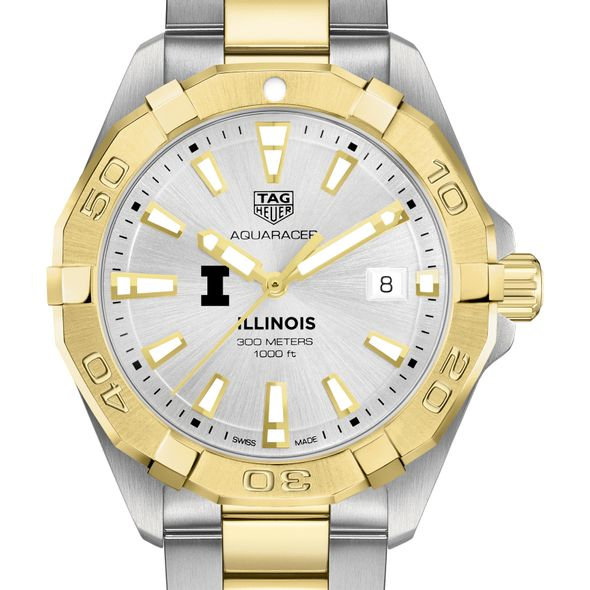 University of Illinois Men's TAG Heuer Two-Tone Aquaracer