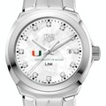 University of Miami TAG Heuer Diamond Dial LINK for Women - Image 1