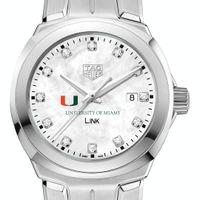 University of Miami TAG Heuer Diamond Dial LINK for Women