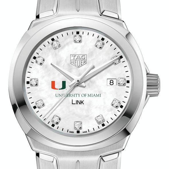 University of Miami TAG Heuer Diamond Dial LINK for Women