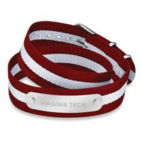 Virginia Tech Double Wrap NATO ID Bracelet