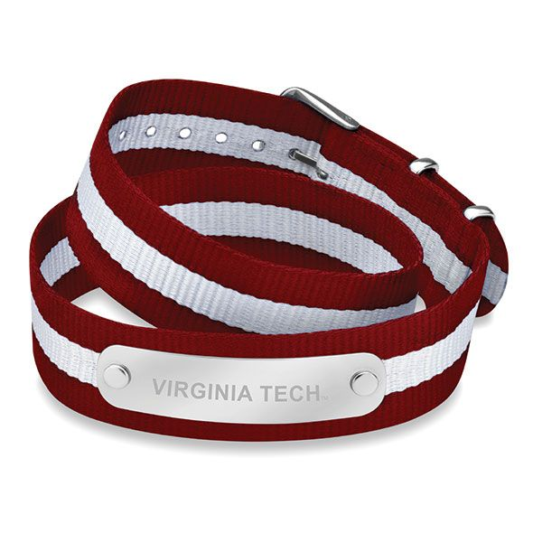 Virginia Tech Double Wrap NATO ID Bracelet