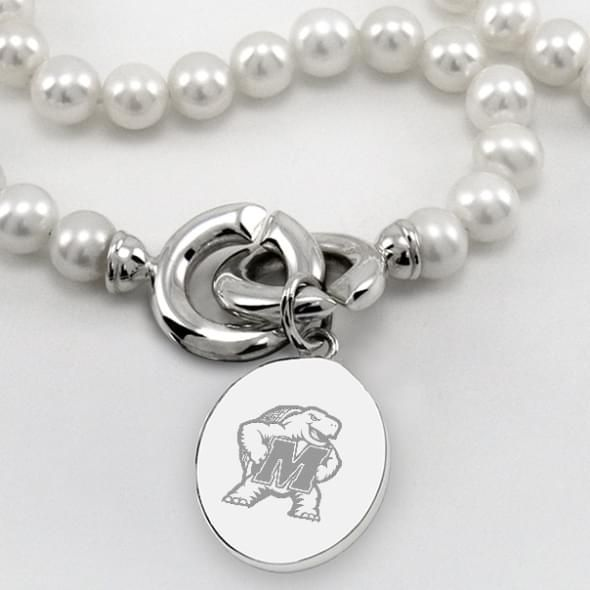 Maryland Pearl Necklace with Sterling Silver Charm - Image 2