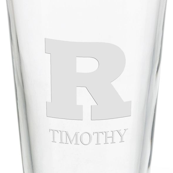 Rutgers University 16 oz Pint Glass - Image 3