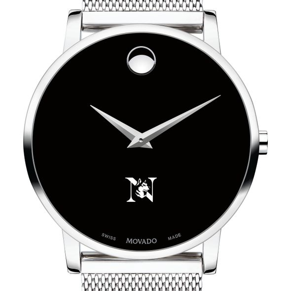 Northeastern University Men's Movado Museum with Mesh Bracelet - Image 1