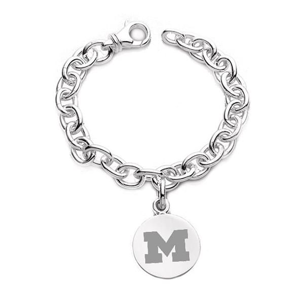 Michigan Sterling Silver Charm Bracelet - Image 1
