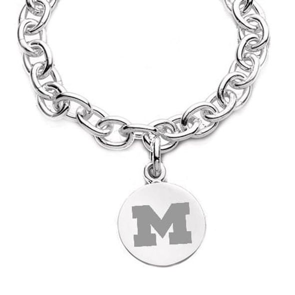 Michigan Sterling Silver Charm Bracelet - Image 2