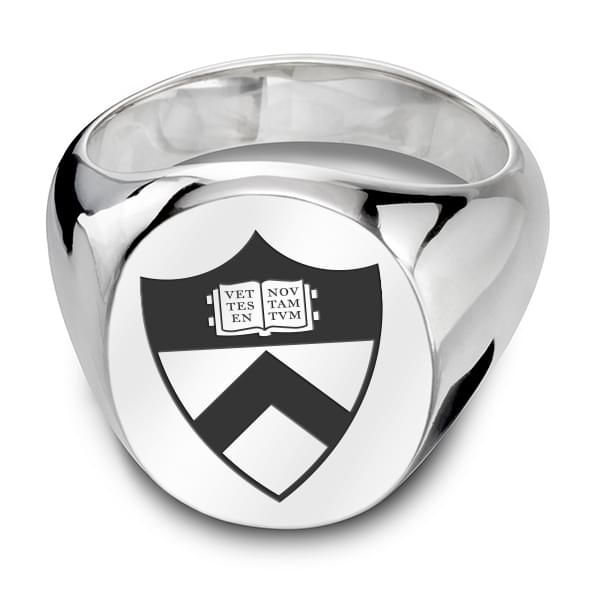 Princeton Sterling Silver Oval Signet Ring