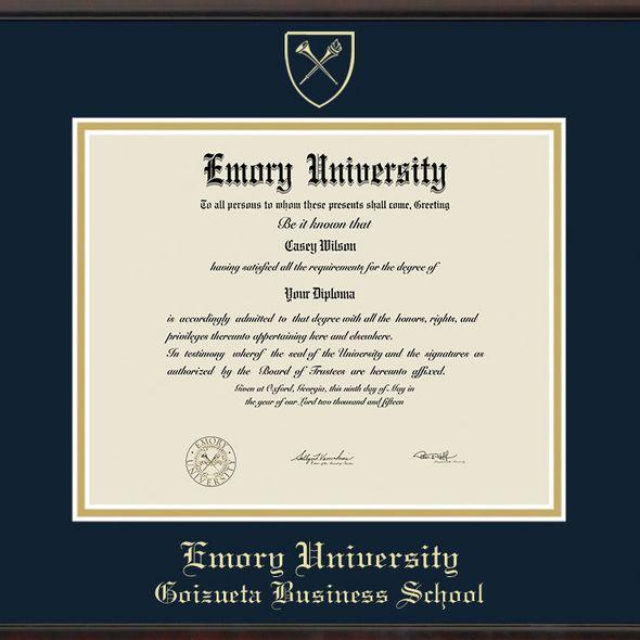 Emory Goizueta Diploma Frame, the Fidelitas - Image 2