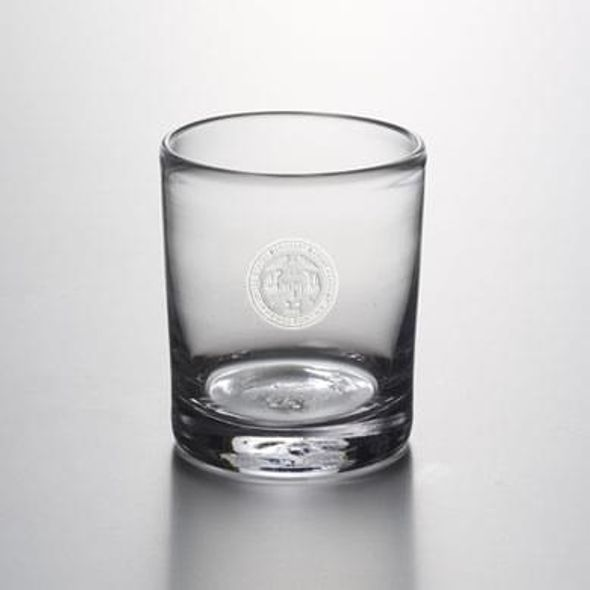 USMMA Double Old Fashioned Glass by Simon Pearce