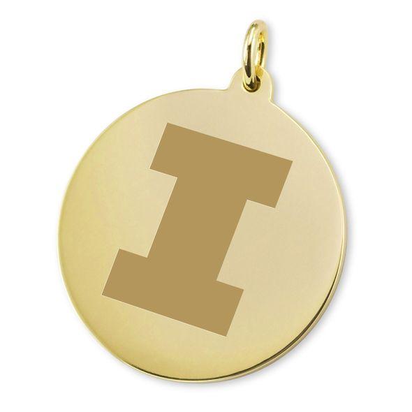 University of Illinois 18K Gold Charm