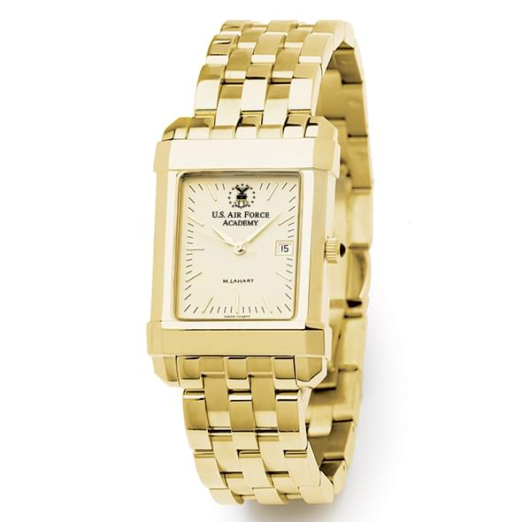 USAFA Men's Gold Quad Watch with Bracelet - Image 2