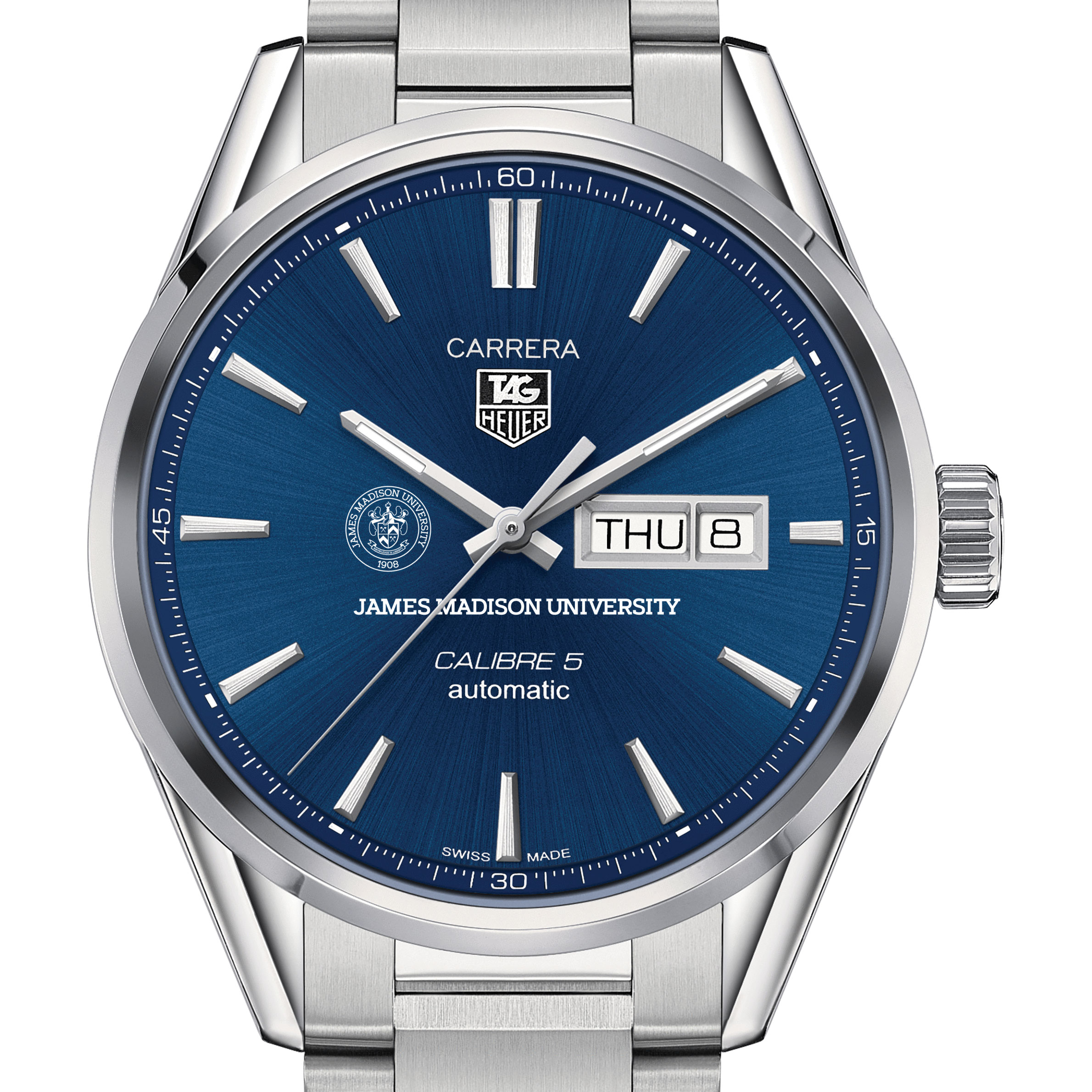 James Madison University Men's TAG Heuer Carrera with Day-Date