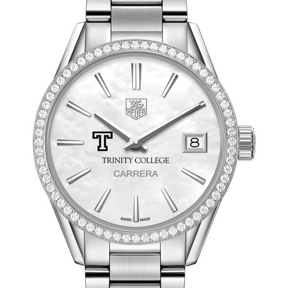 Trinity College Women's TAG Heuer Steel Carrera with MOP Dial & Diamond Bezel