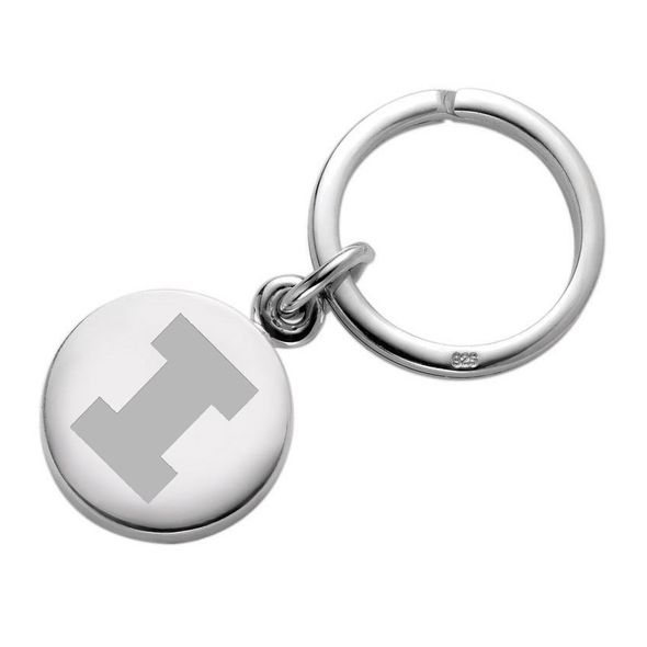 University of Illinois Sterling Silver Insignia Key Ring - Image 1