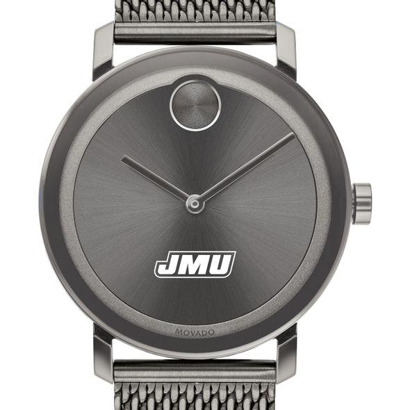 James Madison University Men's Movado BOLD Gunmetal Grey with Mesh Bracelet