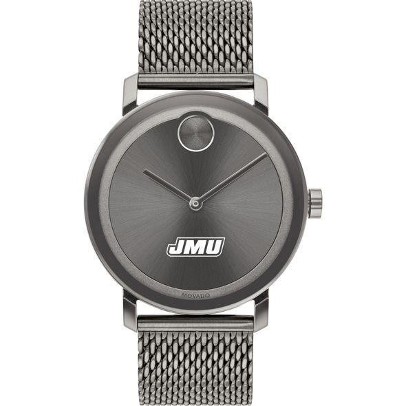 James Madison University Men's Movado BOLD Gunmetal Grey with Mesh Bracelet - Image 2