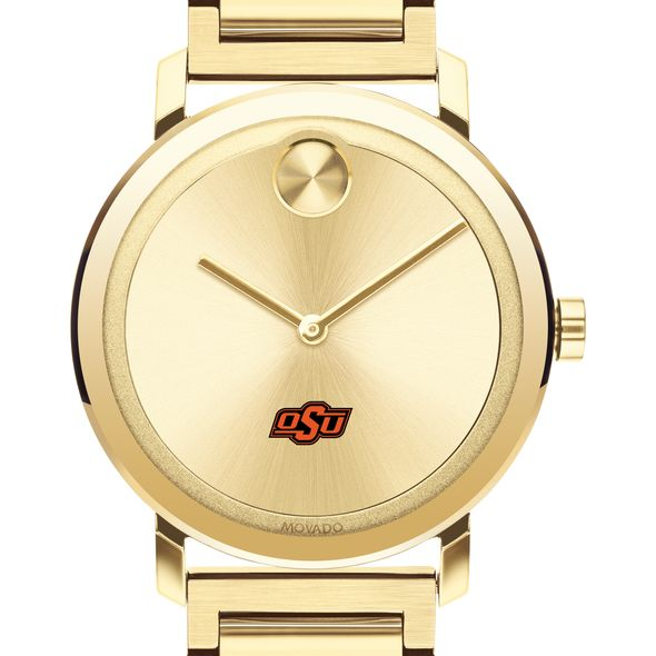 Oklahoma State Men's Movado Bold Gold with Bracelet - Image 1