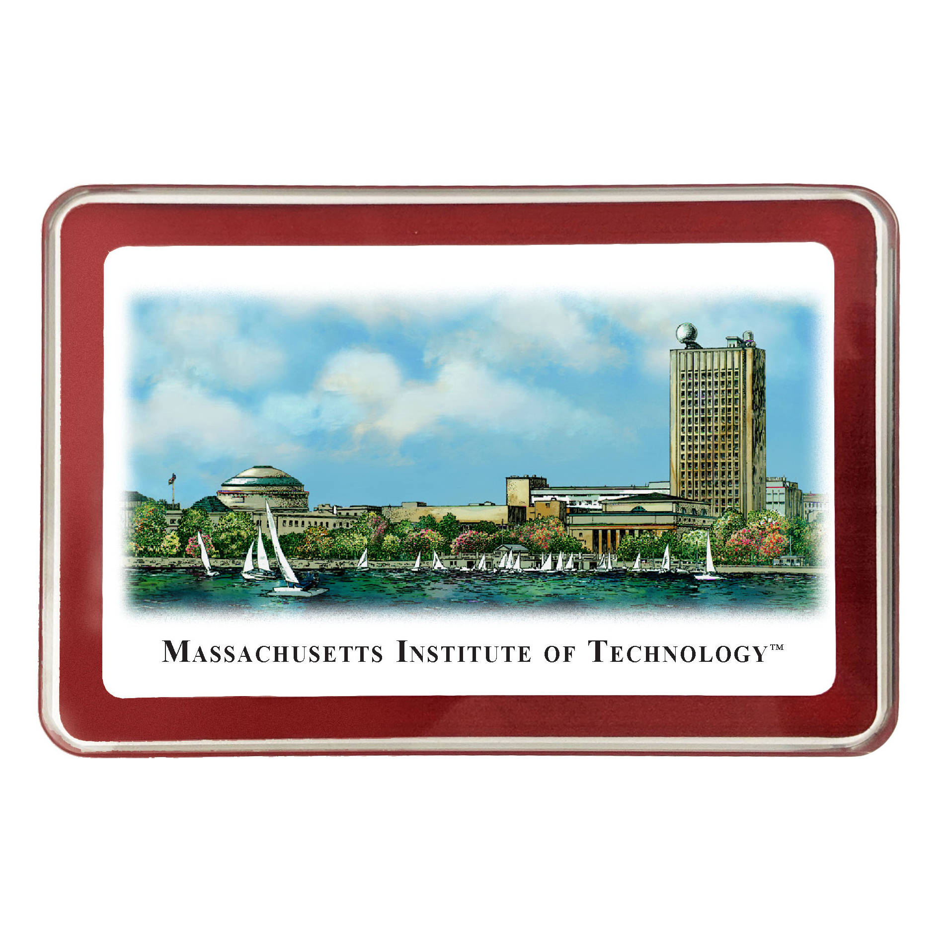 MIT Eglomise Paperweight