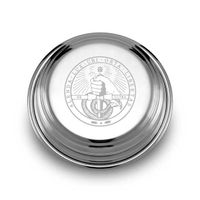 Davidson College Pewter Paperweight