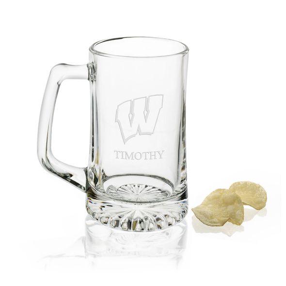 Wisconsin 25 oz Beer Mug - Image 1