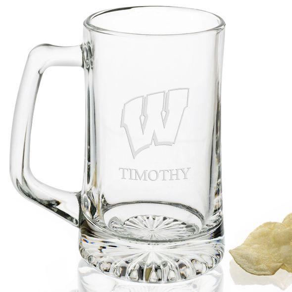 Wisconsin 25 oz Beer Mug - Image 2